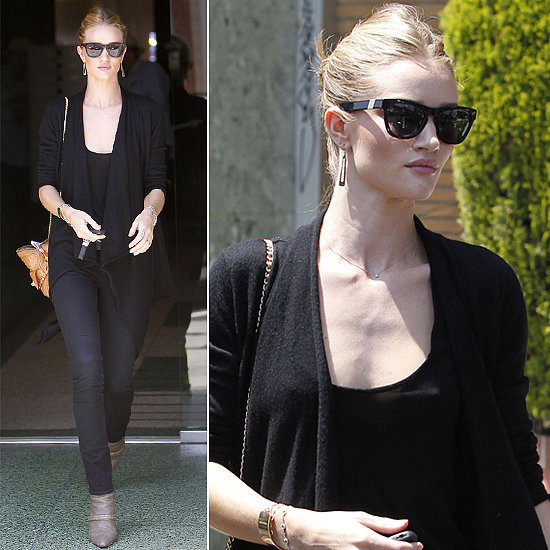 Rosie Huntington-Whiteley showcased her love for Westward Leaning with an all-black ensemble and these Mercury Seven ($165) shades in Beverly Hills, CA.