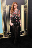 Isla Fisher wore Dolce & Gabbana at The Great Gatsby's premiere in New York.