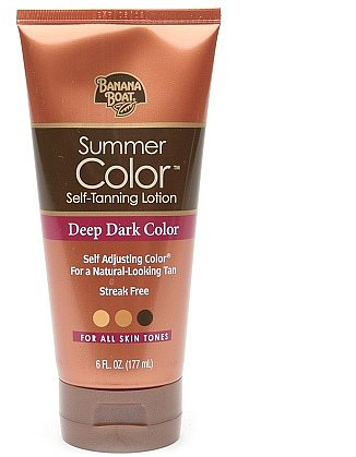 Banana Boat Sunless Summer Color Self Tanning Lotion Deep Dark Deep Dark