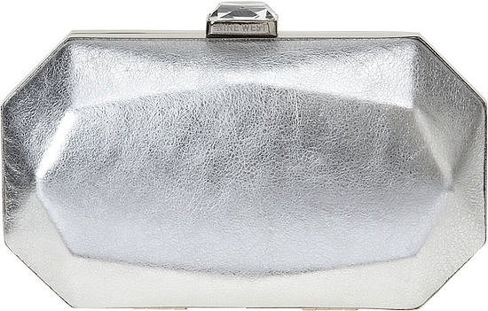 This Nine West silver metallic geometric clutch ($50, originally $69) will add futuristic flair to your whole getup. You can even carry it long after your nuptials.