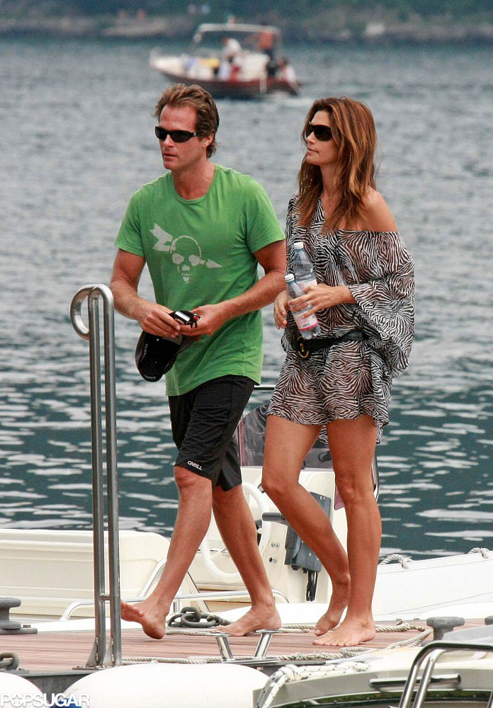 Rande Gerber and Cindy Crawford sent time by the water at Lake Como while staying with George Clooney in August 2009.