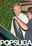 Bill Murray grabbed dinner with George Clooney in July 2009 at Lake Como.