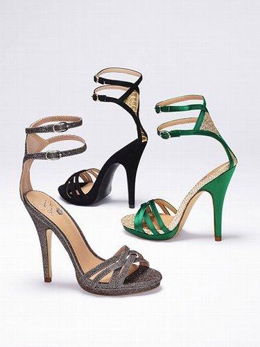 Colin Stuart Diamanté-back Strappy Sandal