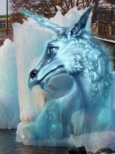 Ice Dragon (or Dragon on the Rocks II)