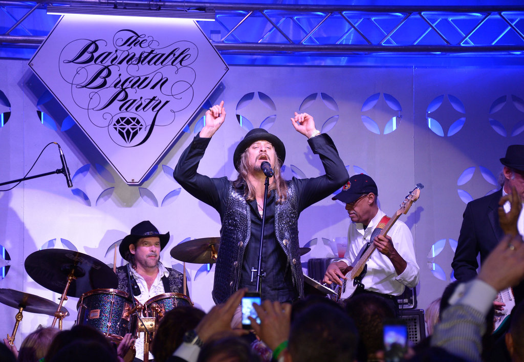 Kid Rock took the stage at the Barnstable Brown Gala on Friday.