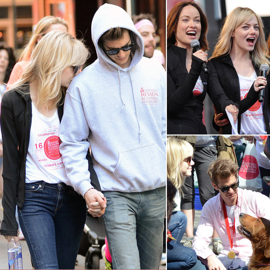 Emma and Andrew Bring PDA and a Pup to Revlon's Race