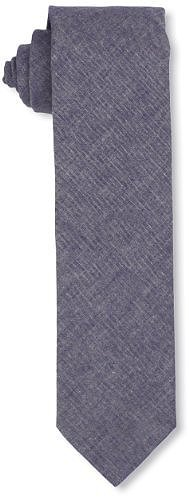 Faconnable Tailored Denim Men's Basic Solid Neck Tie