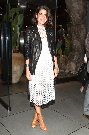 Leandra Medine at the opening of Dolce & Gabbana's Fifth Avenue boutique. Matteo Prandoni/BFAnyc.com