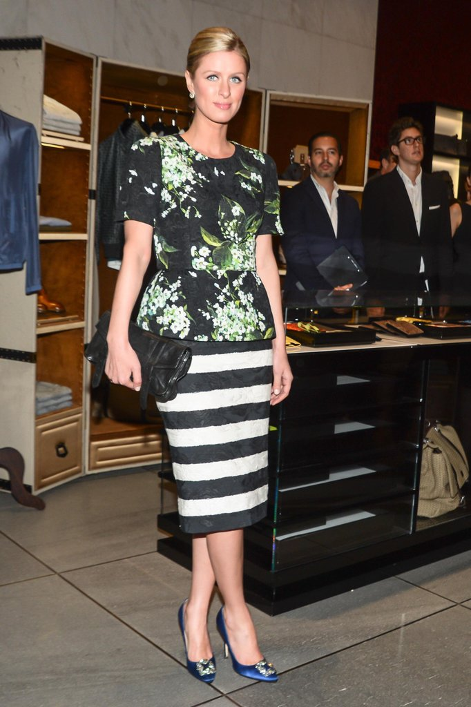 Nicky Hilton at the opening of Dolce & Gabbana's Fifth Avenue boutique in New York. Source: Matteo Prandoni/BFAnyc.com