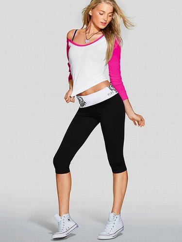 PINK Long-sleeve Baseball Tee