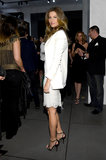 Gisele Bündchen smiled at the opening of the Dolce & Gabbana store on Fifth Avenue in NYC.
