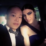 Jason Wu and Jessica Paré rode to the gala together in style. Source: Instagram user jasonwustudio