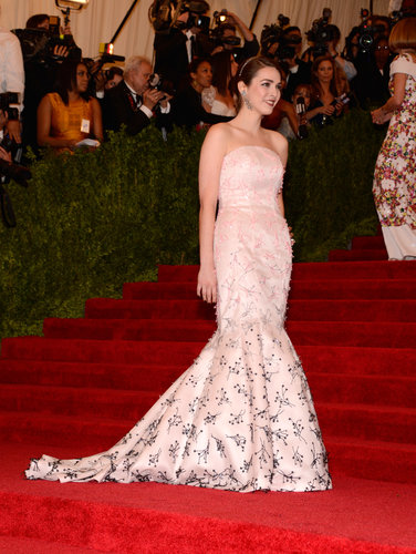Bee Shaffer at the Met Gala 2013.