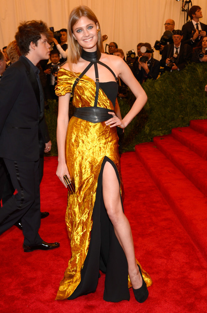 Constance Jablonski was undeniably sexy in a hand-sculpted metal Wes Gordon gown with a thigh-high slit.