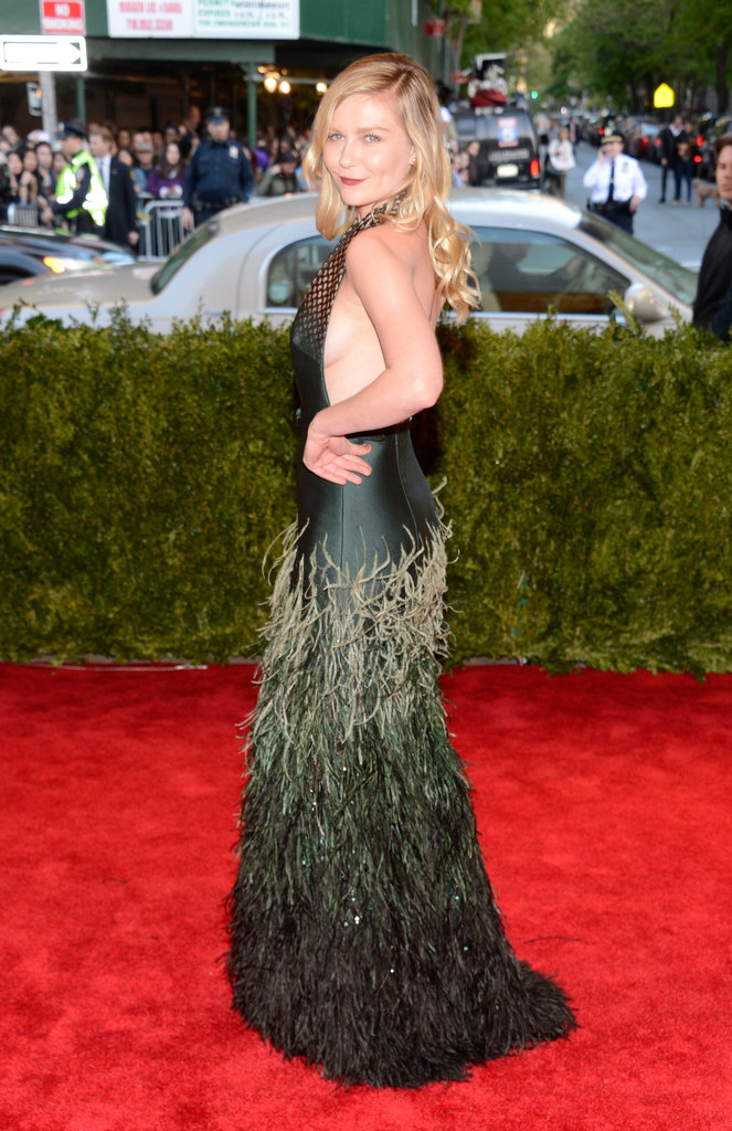 Kirsten Dunst picked Louis Vuitton for the 2013 Met Gala.