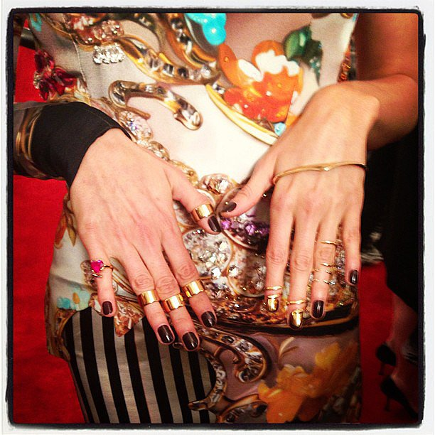 How awesome are Karolina Kurkova's rings? Source: Instagram user peoplestylewatchmag