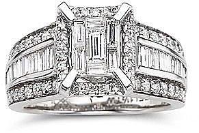 1 1/2 CT. T.W. Diamond Engagement Ring 14K White Gold