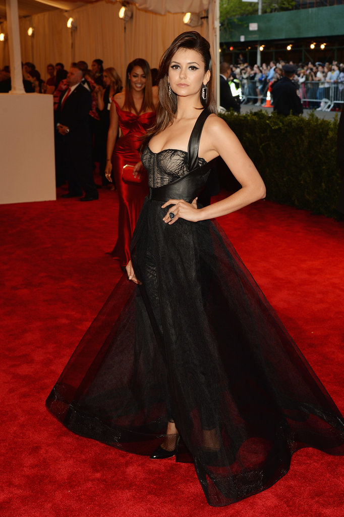 Nina Dobrev at the Met Gala 2013.