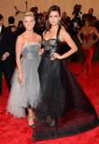 Julianne Hough and Nina Dobrev at the Met Gala 2013.