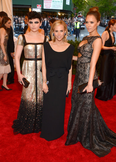 Jessica Alba, Ginnifer Goodwin, and Tory Burch Make a Mean Met Gala Trio