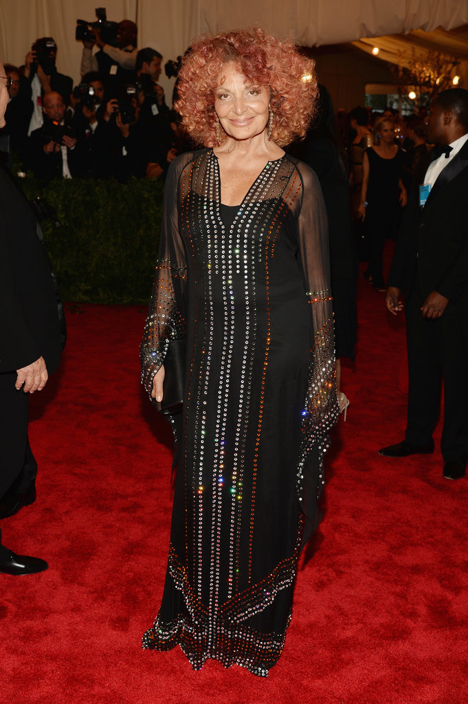 Diane von Furstenberg at the 2013 Met Gala.