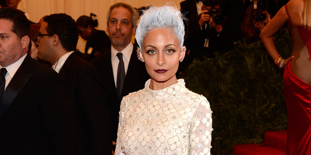 Nicole Richie Debuts Bright White Hair in Her Met Gala Look