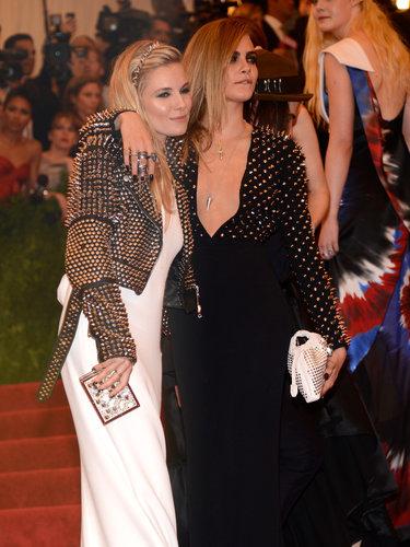 Sienna Miller and Cara Delevingne at the Met Gala 2013.
