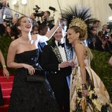 Jennifer Lawrence and Sarah Jessica Parker at the Met Gala 2013.