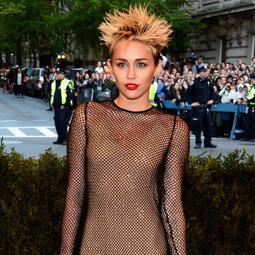Miley Cyrus Wears Fishnet Marc Jacobs for 2013 Met Gala