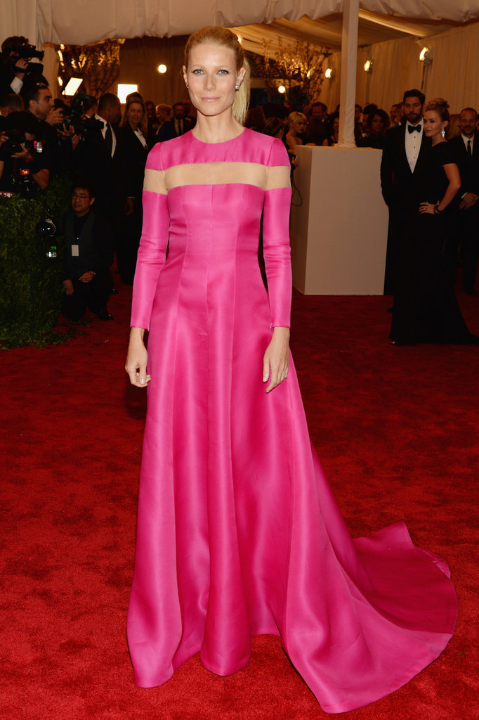 Gwyneth Paltrow took the ultimate punk approach and rejected the theme entirely. Instead, she selected a classic Valentino gown in bold pink.