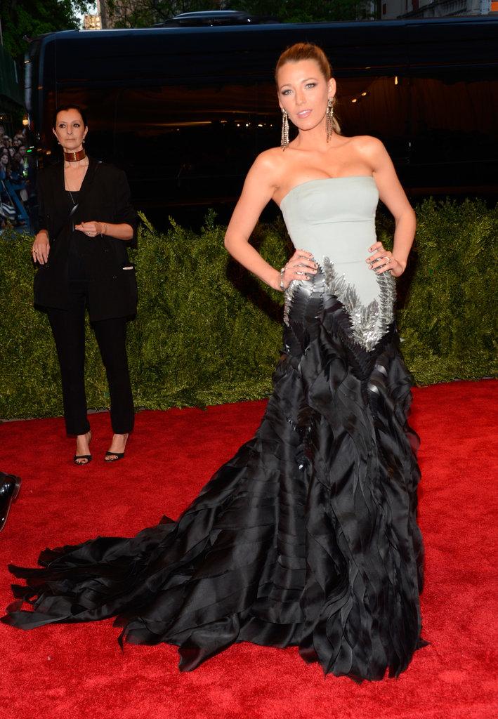 Blake Lively at the Met Gala 2013.