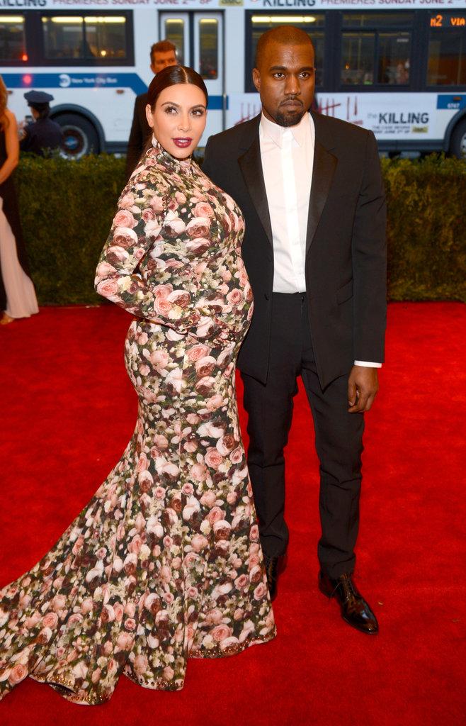 Kim Kardashian and Kanye West at the Met Gala 2013.