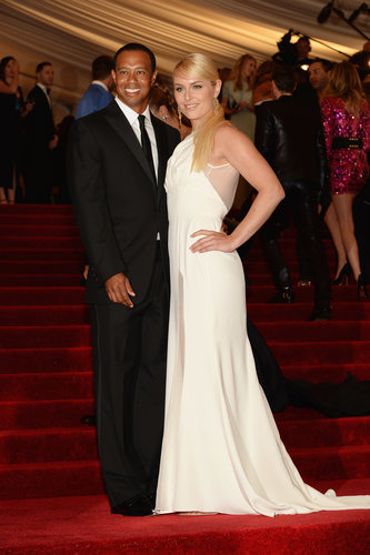 Tiger Woods and Lindsey Vonn at the Met Gala 2013.