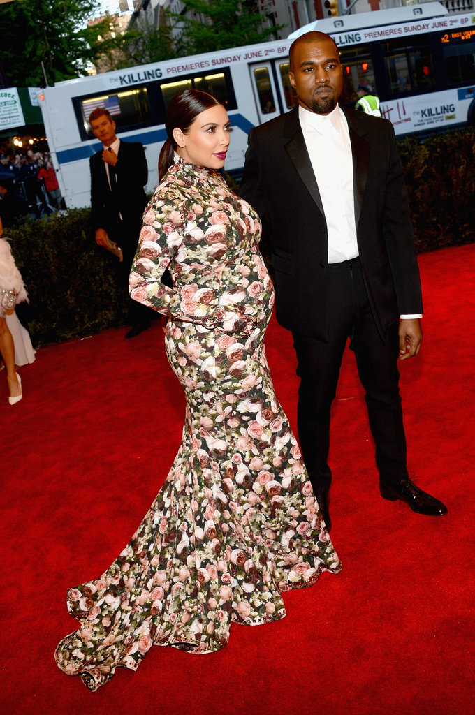 Kanye West and Kim Kardashian at the Met Gala 2013.