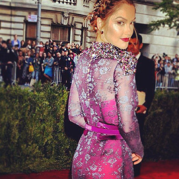 Minka Kelly was a vision to behold in her Carolina Herrera gown. Source: Instagram user houseofherrera