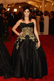 Ashley Greene went for a very dramatic ensemble at the Met Gala.