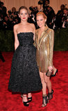 Jennifer Lawrence and Elizabeth Banks at the 2013 Met Gala.