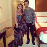 Brad Goreski posed with one of his punk princesses, Christina Ricci. Source: Instagram user mrbradgoreski