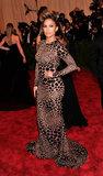Jennifer Lopez at the Met Gala 2013.