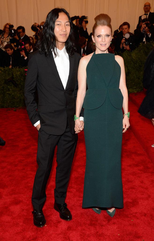 Julianne Moore and Alexander Wang at the Met Gala 2013.