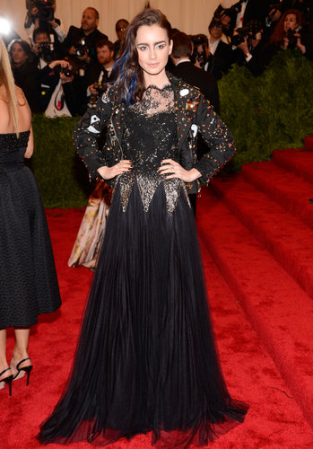 Lily Collins at the Met Gala 2013.
