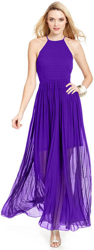 French Connection Dress, Halter Pleated Maxi