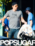 Dax Shepard carried his daughter, Lincoln.