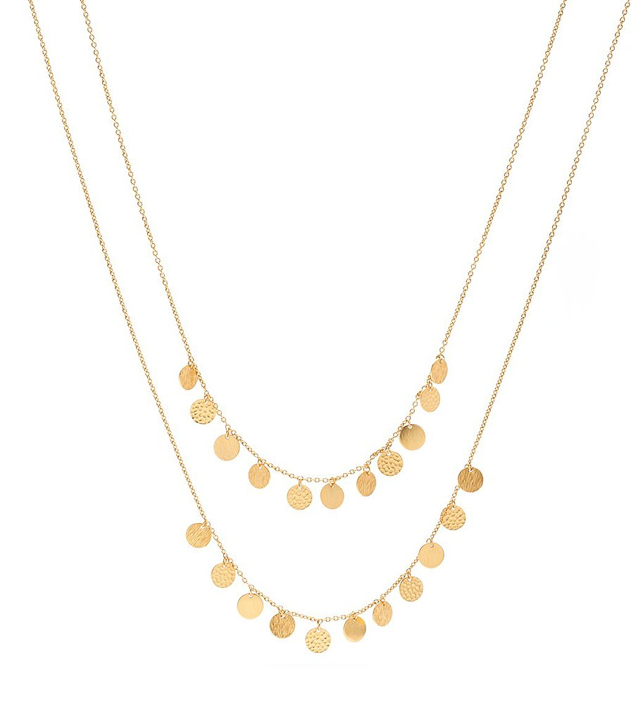 We love the delicate feel of this Gorjana Fatima layer necklace ($145).