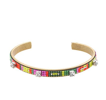 We love the beading detail on this Isaro by Jill Golden Let's Dance cuff ($88).