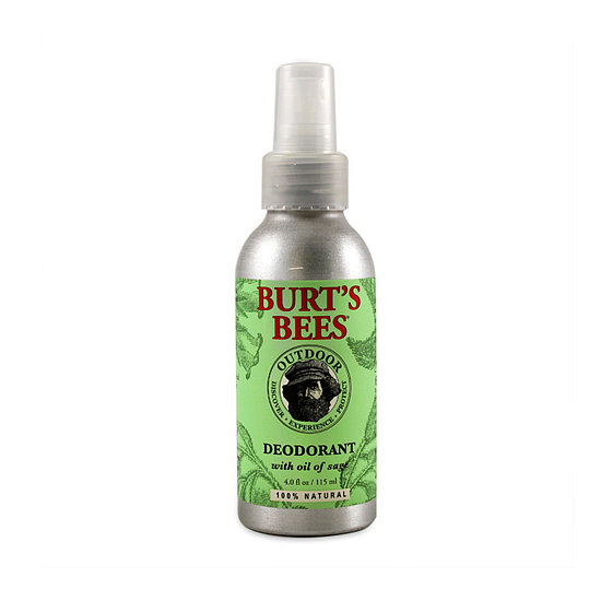 If you're not into wearing deodorant with metallic components, try Burt's Bees Herbal Deodorant ($8), which comes in a handy spray.