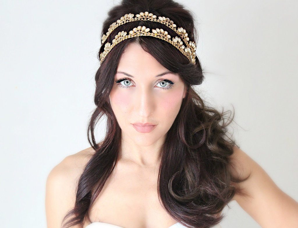 The intricate details of this two-tiered headband ($140) are simply gorgeous.