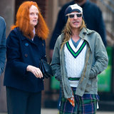 Grace Coddington and John Galliano Spotted in New York City