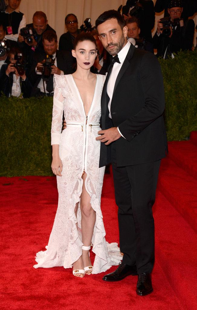 Rooney Mara and Riccardo Tisci at the Met Gala 2013.