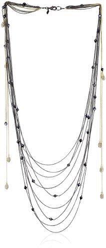 """ABS By Allen Schwartz """"Dramatic Romance"""" Hematite-Tone Multi  Necklace"""